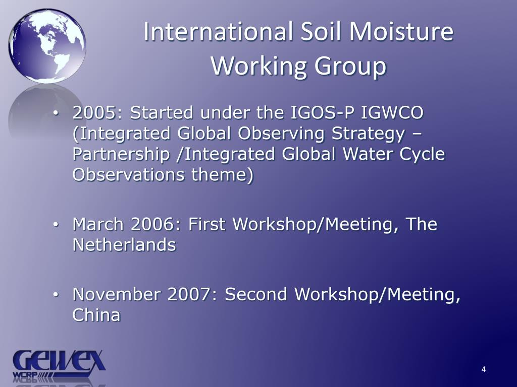 International Soil Moisture Working Group