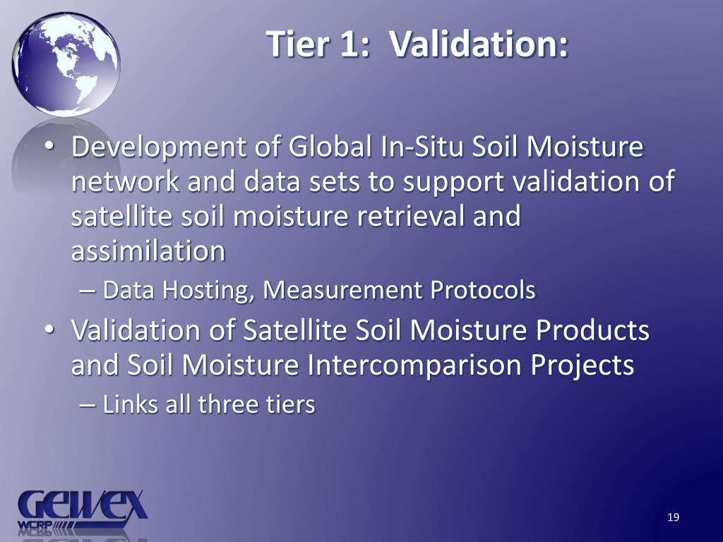 Tier 1:  Validation: