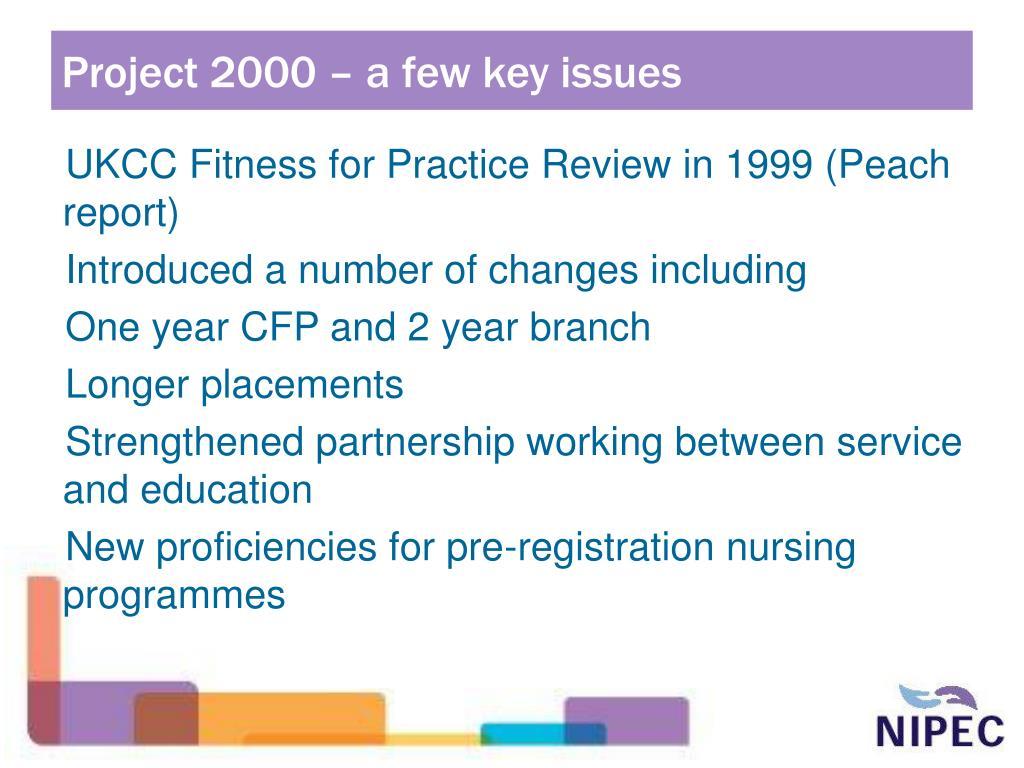 Project 2000 – a few key issues