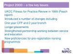 project 2000 a few key issues8