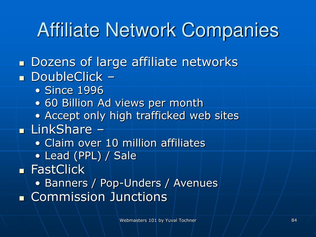 Affiliate Network Companies
