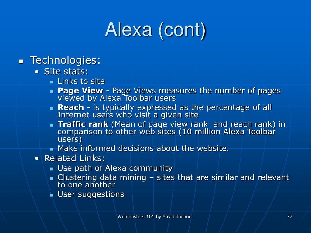 Alexa (cont)