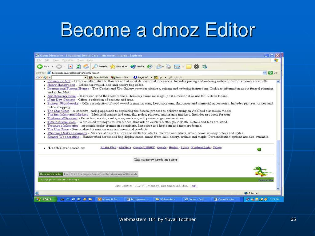 Become a dmoz Editor