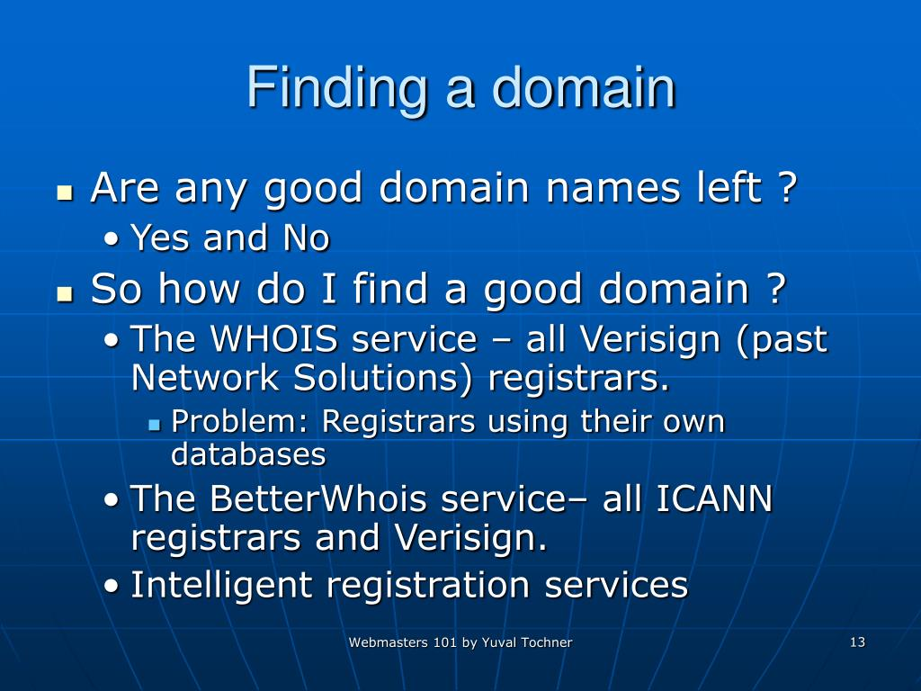 Finding a domain