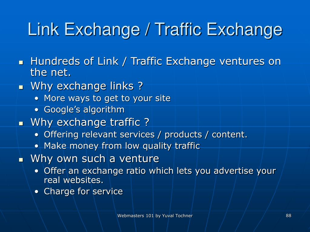 Link Exchange / Traffic Exchange