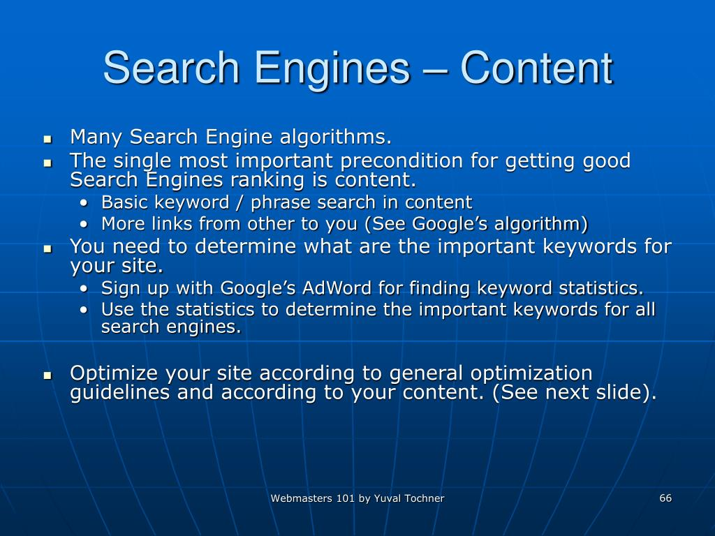 Search Engines – Content