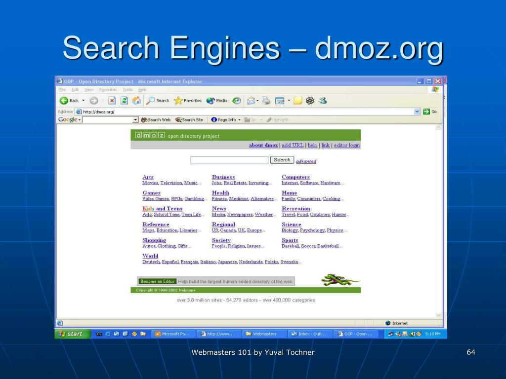 Search Engines – dmoz.org