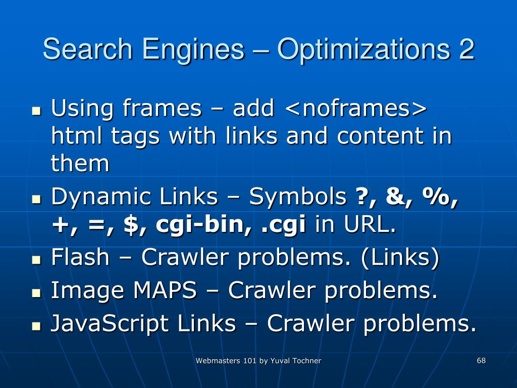 Search Engines – Optimizations 2