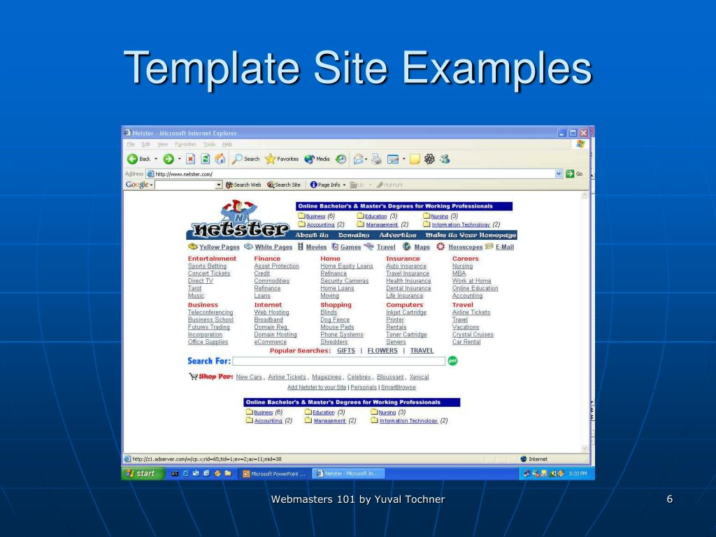 Template Site Examples