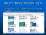 use pre made components cont