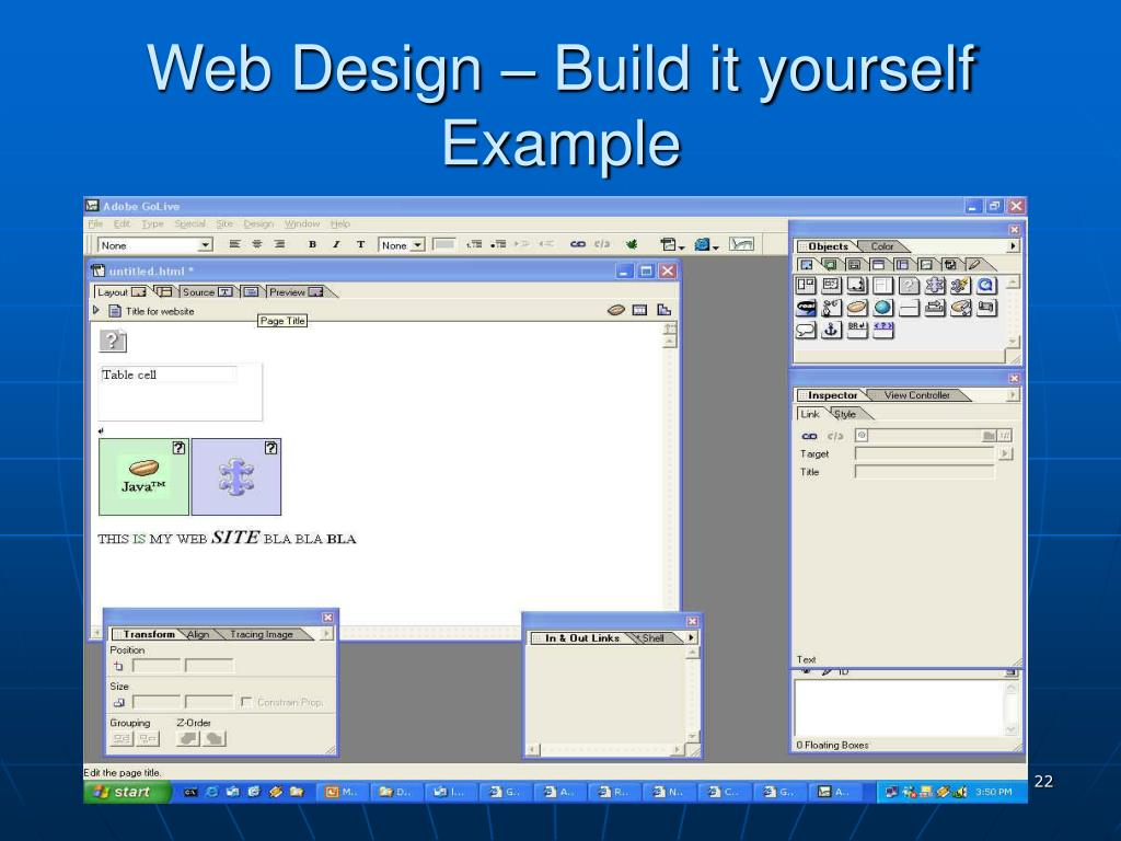 Web Design – Build it yourself Example