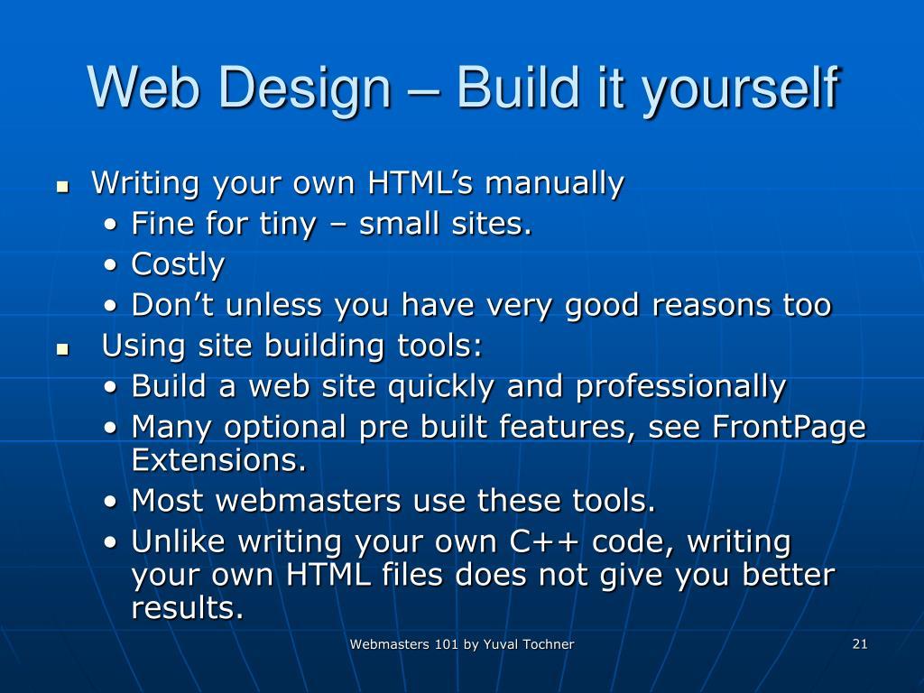 Web Design – Build it yourself
