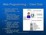 web programming client side