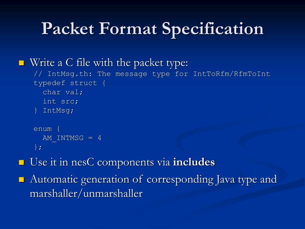 Packet Format Specification