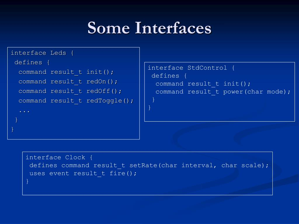 Some Interfaces