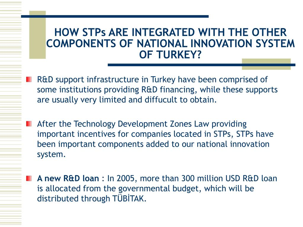 HOW STPs ARE INTEGRATED WITH THE OTHER COMPONENTS OF NATIONAL INNOVATION SYSTEM OF TURKEY?