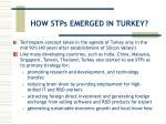 how stps emerged in turkey