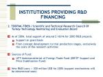 institutions providing r d financing15