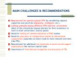 main challenges recommendations24