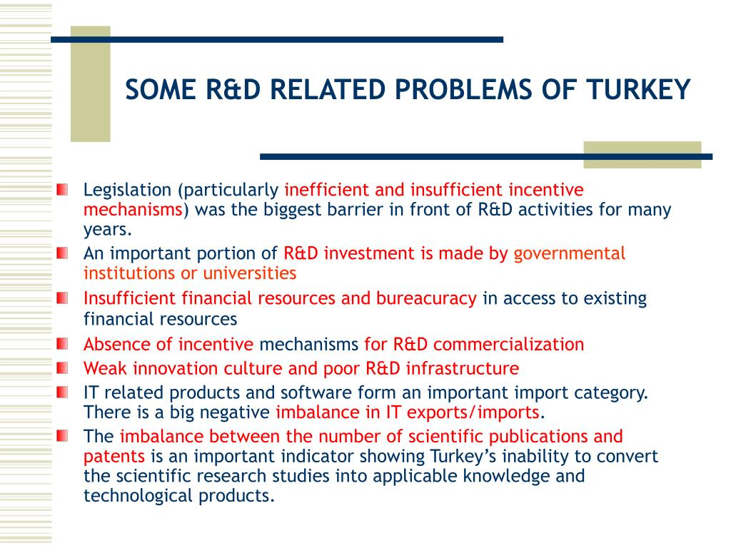 SOME R&D RELATED PROBLEMS OF TURKEY