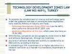 technology development zones law law no 4691 turkey