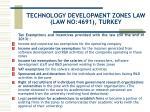 technology development zones law law no 4691 turkey8