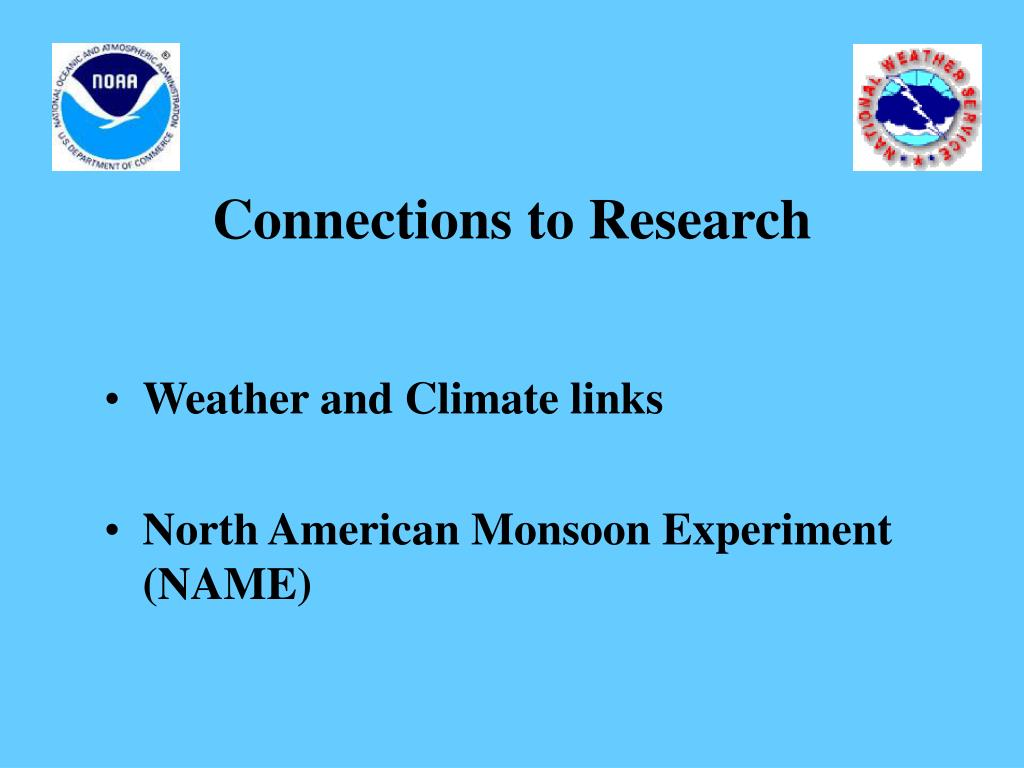 Connections to Research