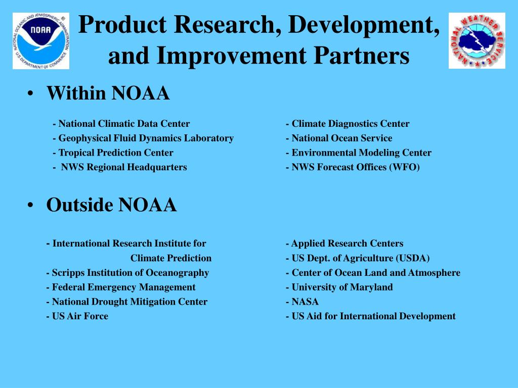 Product Research, Development,