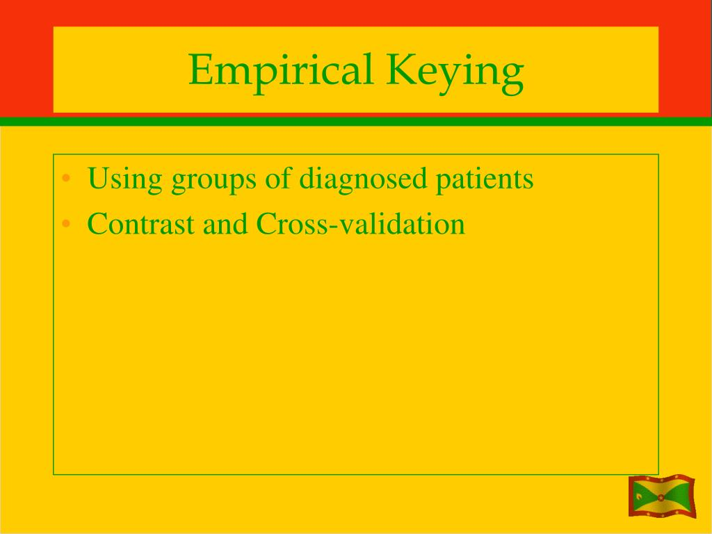 Empirical Keying