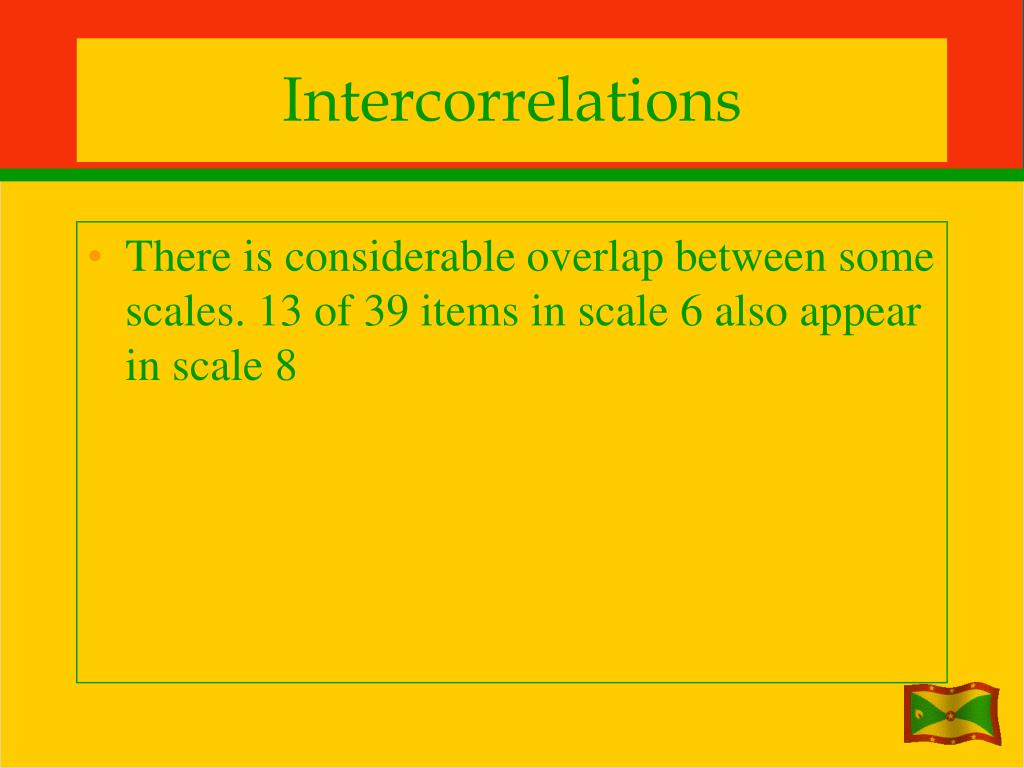 Intercorrelations