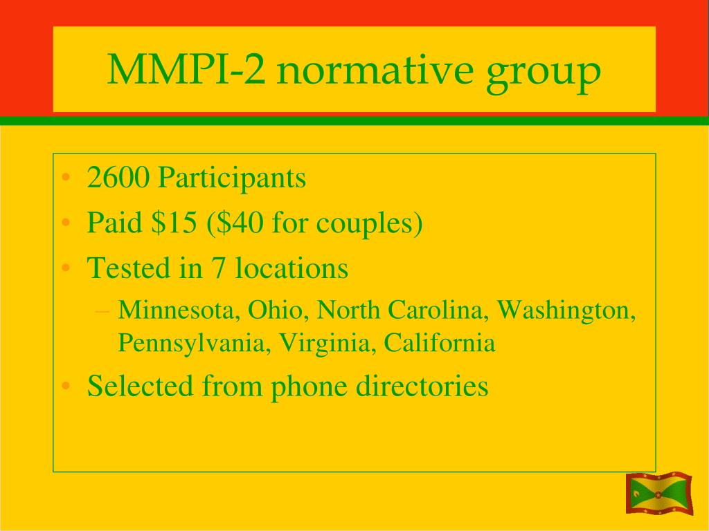 MMPI-2 normative group
