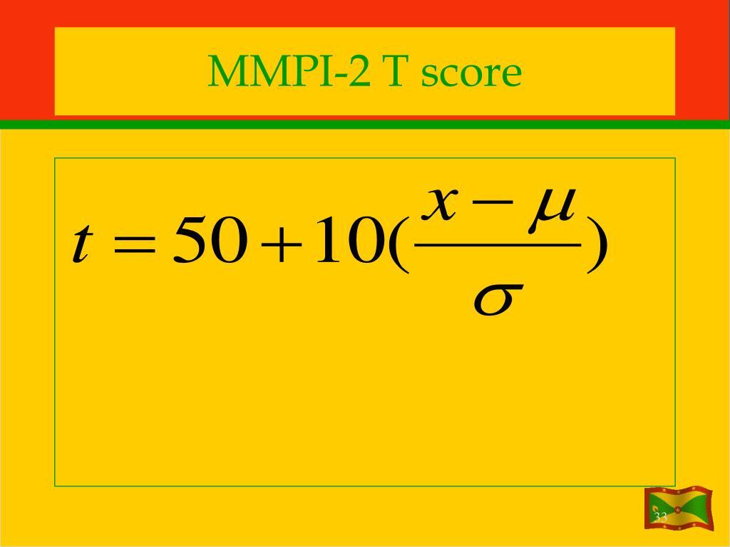 MMPI-2 T score