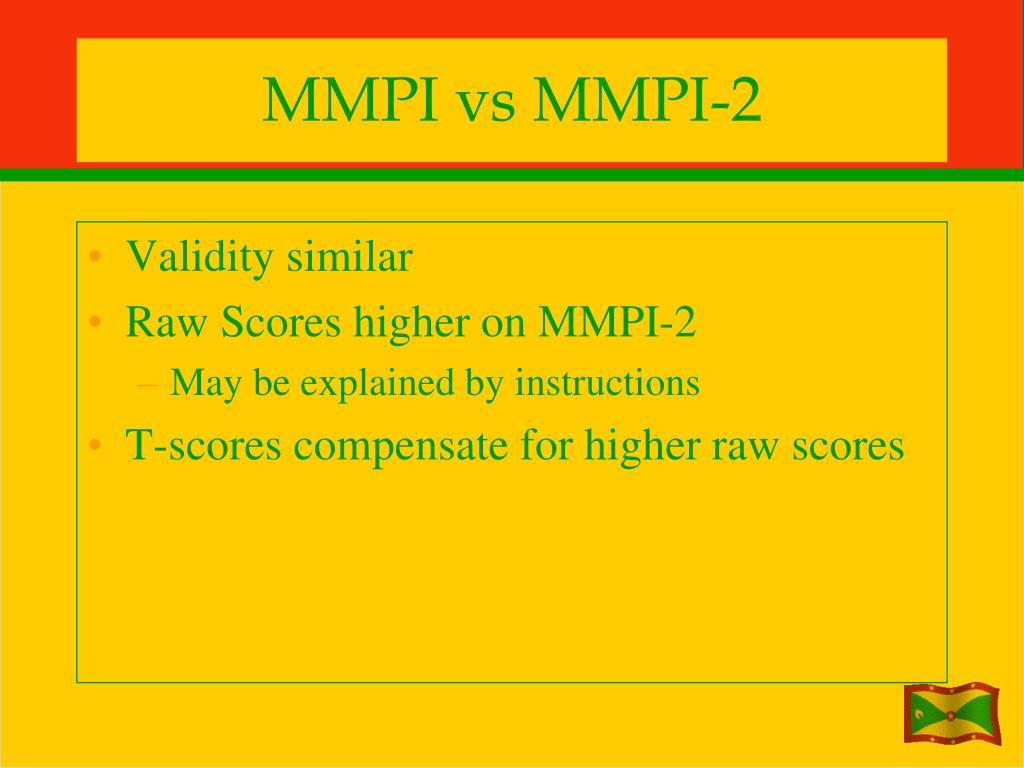 MMPI vs MMPI-2