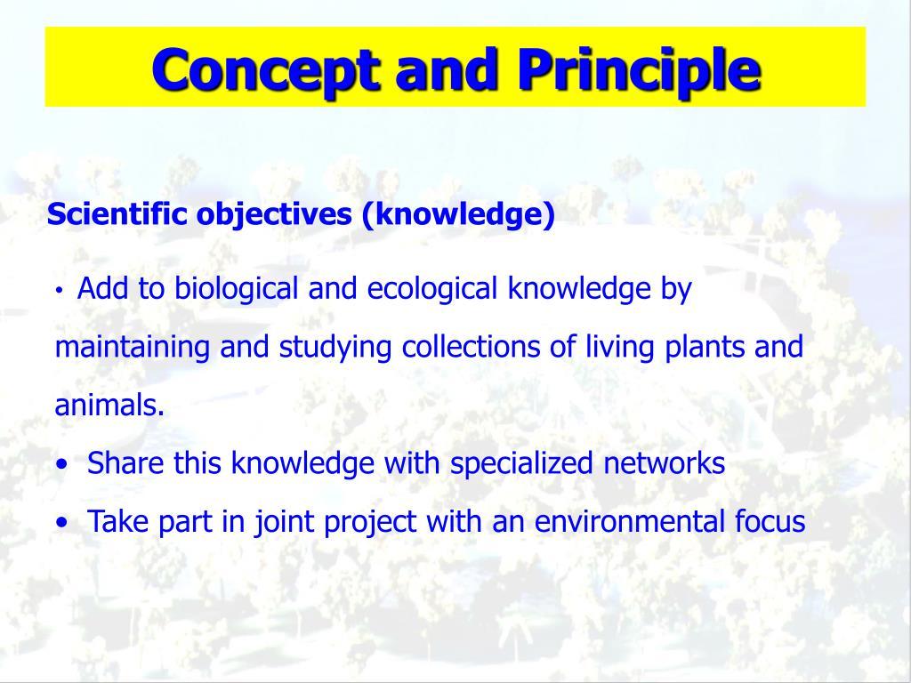 Concept and Principle