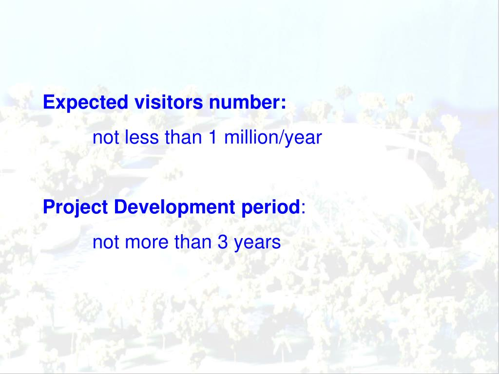 Expected visitors number: