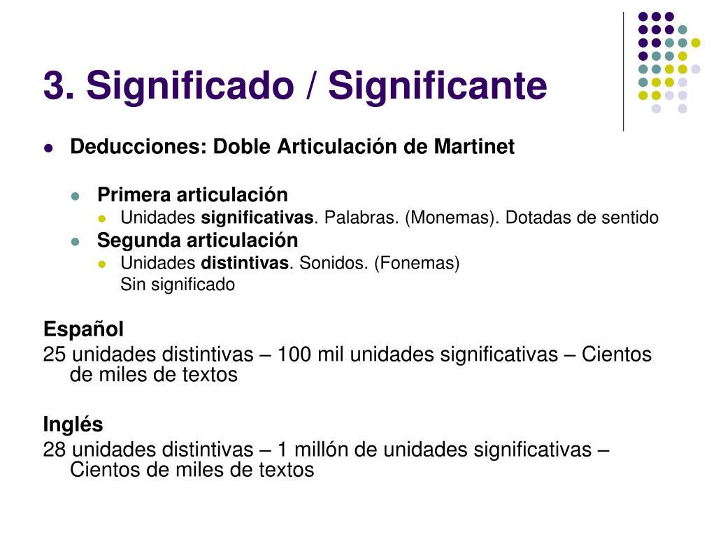 3. Significado / Significante