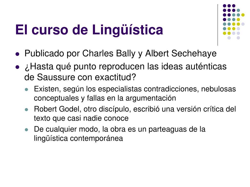 El curso de Lingüística