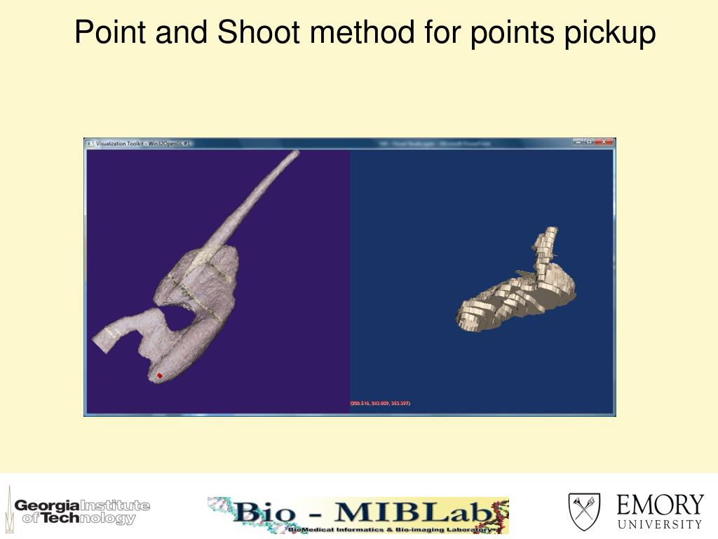 Point and Shoot method for points pickup