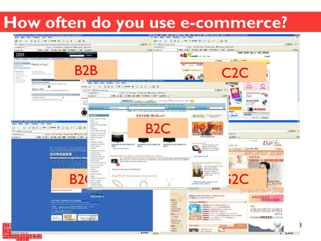 How often do you use e-commerce?