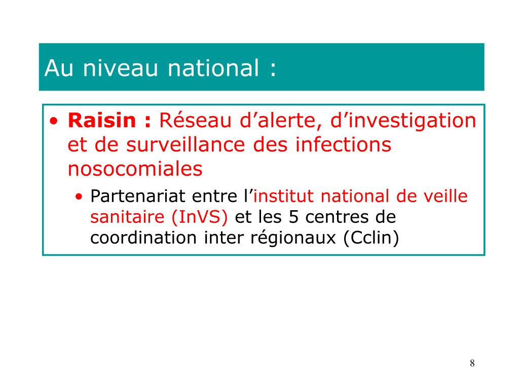 Au niveau national :