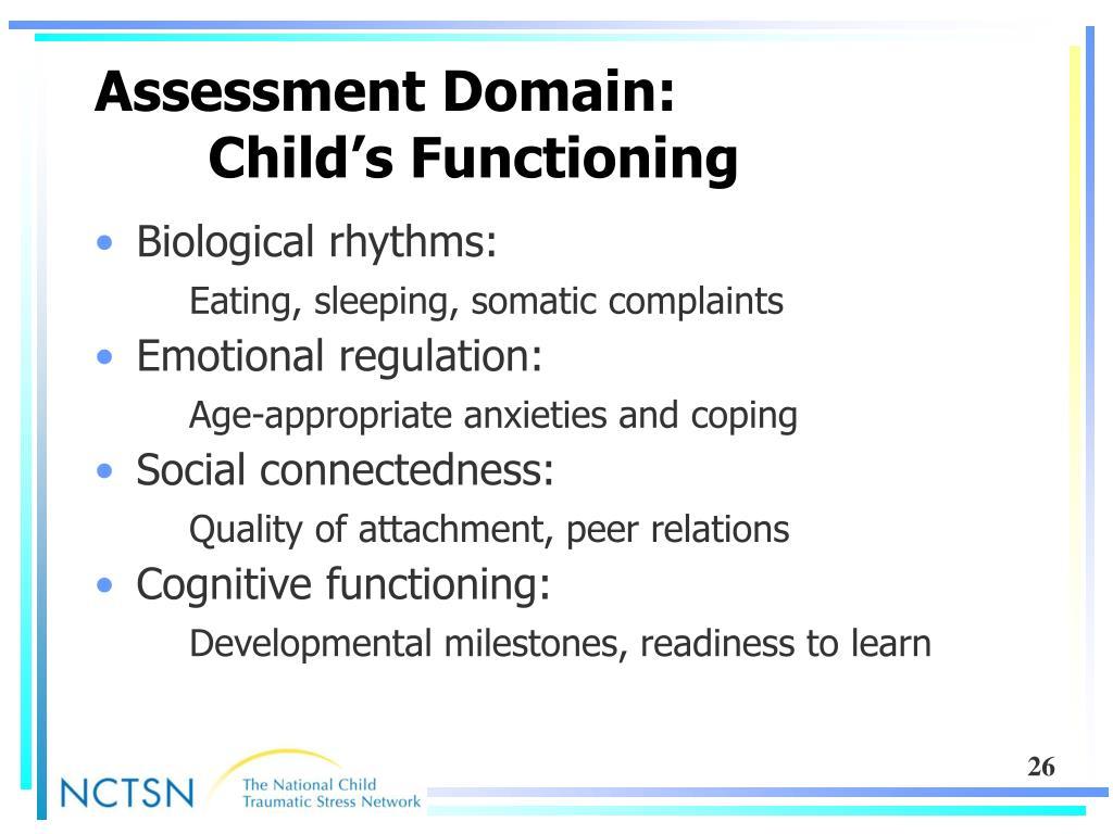 Assessment Domain: