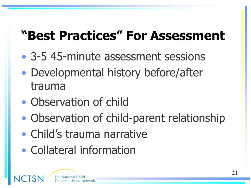 """Best Practices"" For Assessment"