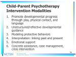 child parent psychotherapy intervention modalities