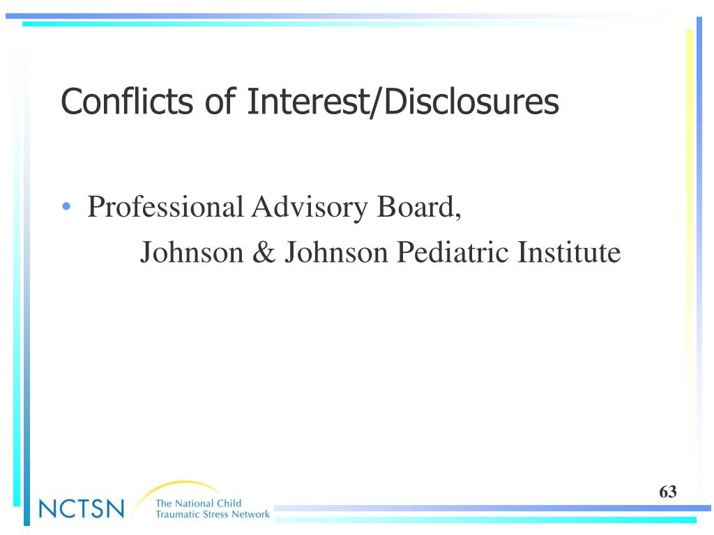 Conflicts of Interest/Disclosures