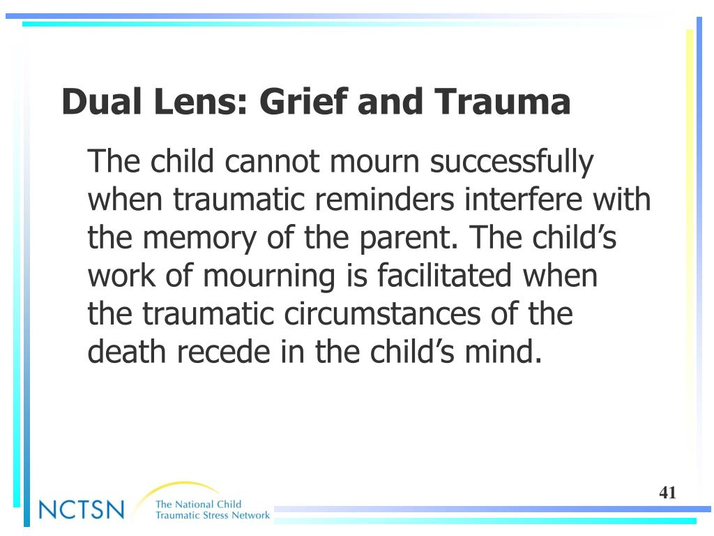 Dual Lens: Grief and Trauma