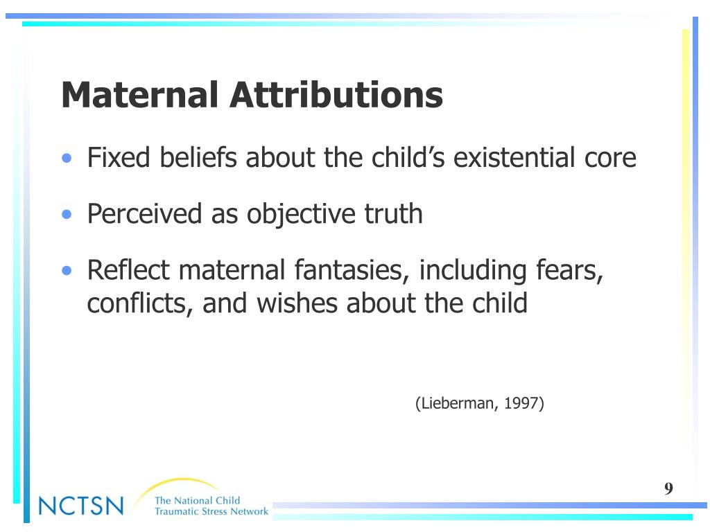 Maternal Attributions
