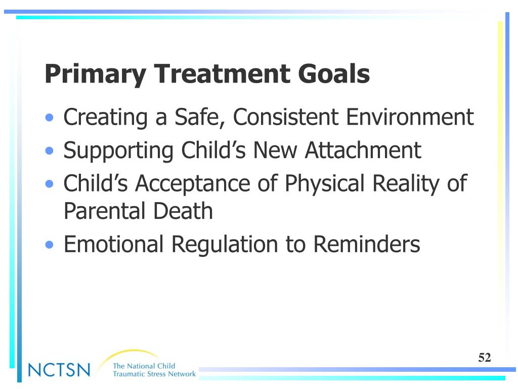 Primary Treatment Goals