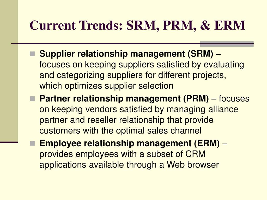 Current Trends: SRM, PRM, & ERM