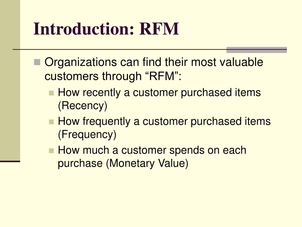 Introduction: RFM