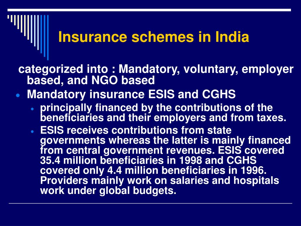 Insurance schemes in India